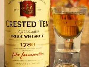 Irish Whiskey Crested Ten Label