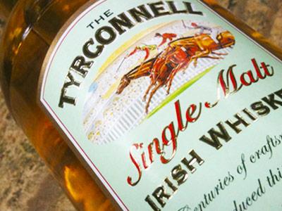 Irish Whiskey Tyrconell Bottle Label