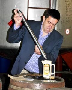 Bottling your own Irish Whiskey at Kilbeggan Distillery