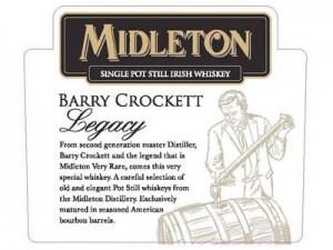 Whiskey irlandais Midleton Barry Crockett Legacy